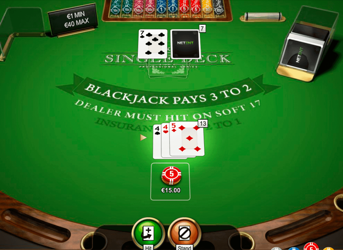 single-deck-blackjack-netent